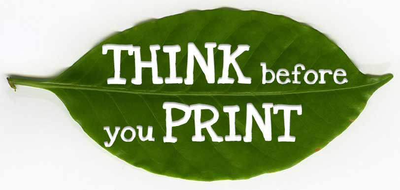 Think before your print leaf design