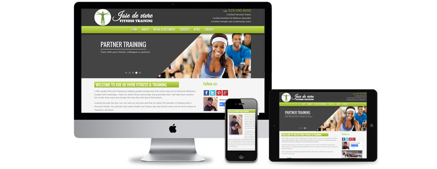 New website design for a personal trainer