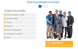 Assicurare il mutuo - customized multi-step forms