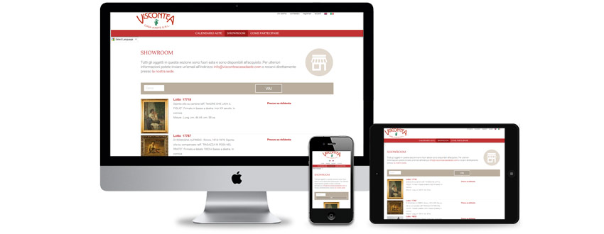Traditional and online auction house website design