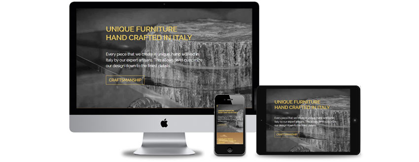 Website design for luxury products