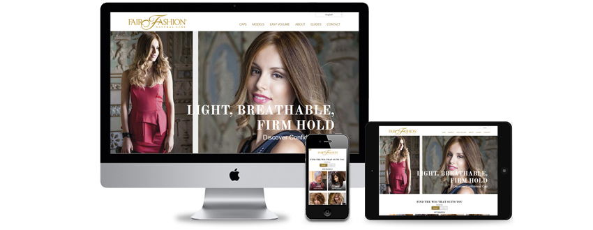 Website design for hair and beauty products