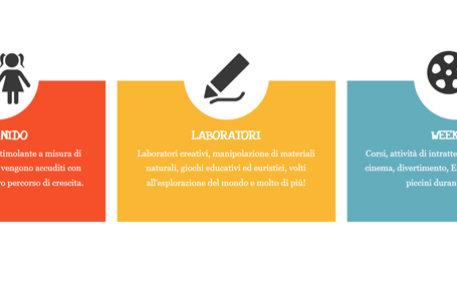 Website design for a nursery school in Milan