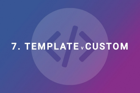 Which is best – a template or a custom designed website?
